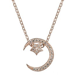 Wholesale Trendy Products - First class products White Cubic Zirconia 925 sterling silver Necklace SS--A598 Christmas gift Trendy jewelry Engagement Wedding gorgeous