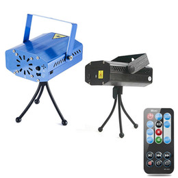 Wholesale Disco Party Laser Remote - 1PCS MINI Projector Laser Light Christmas Laser Light remote RED and Green Portable LED Stage Light for Garden Party Holiday Disco Floors