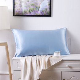 Wholesale Satin Pillowcases Wholesale - Wholesale- 100% Mulberry Silk Single Pillowcase Charmeuse Satin Pillow Cover With Zipper,1pc