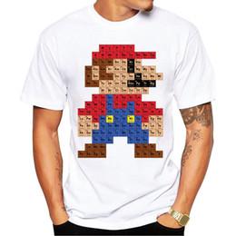 Wholesale Super Mario Tee - Camping Hiking T-Shirts Men Fashion T shirt Hipster Printed Tee Shirts Short Sleeve Tops Super Mario periodic table T-Shirt
