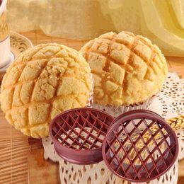 Wholesale Pineapple Bread - Plastic Pineapple Bread Cake Mold Cutter Bun Mould Bareware DIY Baking Pastry Tools DIY tools Cupcake Pan