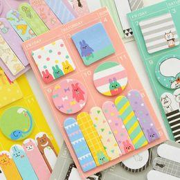 Wholesale Korean Stationery Paper - Cute Kawaii Panda Memo Pad Paper Stickers Cartoon Cat Post It Note For Kids Gift Korean Stationery