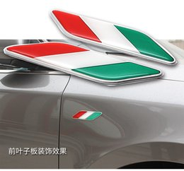 Wholesale 3d Stickers Italy - car badges italy france china german usa union jack flag wings stickers for bmw m power benz mazda renault mini cooper smart accessories