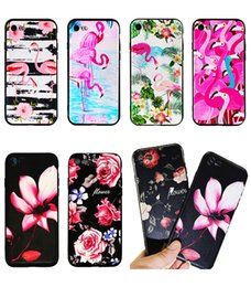 Wholesale 3d Ocean - 3D Design Flamingo Case Cover For iPhone 6 6S 5 7 7Plus Silicone quiet flower Flamingo Ocean Phone Cases