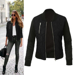 Wholesale S4 Sleeve - Wholesale- 2016 Autumn Women Basic Coats Casual Long Sleeve Jacket New Winter Coat Thicken Outwear Bomber Jackets Abrigos Mujer S4