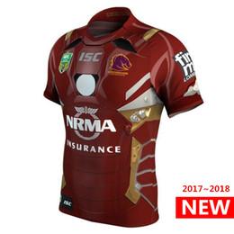 Wholesale Hero S - Hot sales Hero version Brisbane Broncos 2017 2018 Marvel iron man NRL jersey New Zealand Rugby Jerseys Australia shirt S-3XL