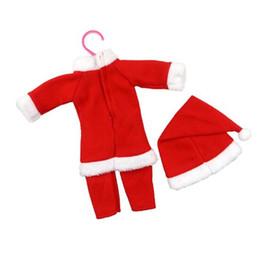 Ropa para muñecas infantiles Nueva Navidad Accesorios para muñecas para bebés recién nacidos Niños El mejor regalo de Navidad Envío gratis de DHL desde fabricantes