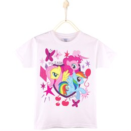 Wholesale Horse Children Clothing - 2017 New Children Clothing Kids T-shirt 100% Cotton Cute Unicorn Pony Horse Girls T Shirts Boys Clothes Baby Tops Free Shipping