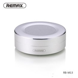 Wholesale Remax Cards - REMAX M13 Wireless Bluetooth Speakers Portable Mini metallic support TF card HD Sound Transport Call Function Speaker with Mic