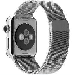 Wholesale Black Magnet Bracelet - Stainless Steel Strap watch band magnet lock Watch Bands Milanese loop Band for iwatch series 1 2 3, 38 42mm