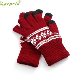 Wholesale Wholesale Leather Gloves Ladies - Wholesale- Ladies Arm Hand Warmer Jacquard Wrist Gloves women protect hands full finger guantes moto motocicleta guantes ciclismo NOV 21