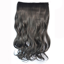 Wholesale Ms Lula Hair - Sara Clip in Wave Curly Hair Extensions Hairpiece Ms Lula 45CM 20inch Synthetic Hair Product Blonde Extensions Hair Pieces Hairpieces