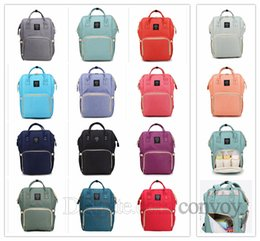 Wholesale Multifunction Diaper Bags - Free DHL Mommy Backpack Mother Maternity Nappies Diaper Backpacks Large Volume Outdoor Travel Bags multifunction Diaper Bags 14 colors MPB02