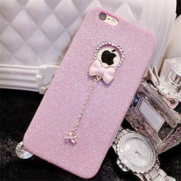 Wholesale Beautiful Shells - Luxury Bling Glitter Soft Crystal TPU Phone Back Case Cover For iPhone 5S 6 6S 6 Plus 7 7 Plus Beautiful Ladies Capa Shell