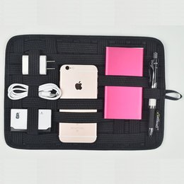 Wholesale Camera Bag Pack - Travel Portable Elastic Band Holder Digital Storage Organizer Plate Grid Packing Receive Bag For Small Gadgets iPad Mobile Phone Camera MP3