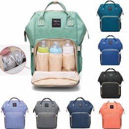 Wholesale Wet Bags Diapers - Mummy Maternity Nappy Bag Large Capacity Baby Bag Travel Backpack Desiger Nursing Bag for Baby Care Diaper Bags mini order 32 pcs