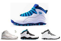 Wholesale Flags Shoes - 2016 air 10 NYC charlotte Hornets blue City Pack CHI Chicago Flag Steel Grey powder Blue Seattle Ice Blue mens basketball shoes