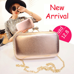 Wholesale Metal Frame Purses - New Designed Brand Candy Box Bag Metal Frame Summer Perfume Stylish Evening Bags Handbag Chain Bag Cute Ladies Banquet Purse - GH6