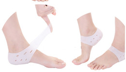 Wholesale Legs Heels - White colour 1 Pair Soft Silicone Anti-Cracking Foot Care Gel Pad Moisturizing Gel Heel Socks Cracked Foot Care Patch Leg Protector Pink