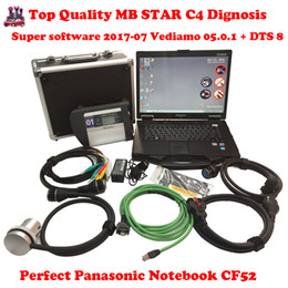 Wholesale Mercedes Star Sd Connect - CF52 + MB Star C4 SD Connect + SSD 2015.09 Xentry Diagnostics System Compact 4 Mercedes Diagnosis Multiplexer For Benz Diagnose