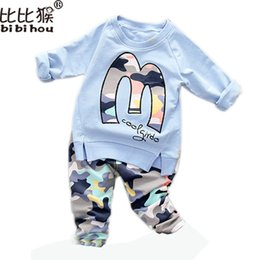 Wholesale Girls Purple Tracksuit - Wholesale- Kids Clothes Set Baby Boys Girls Clothes Suit Toddler Boys Clothing Long Sleeve Tshirt Pants Casual Tracksuits Children Clothes