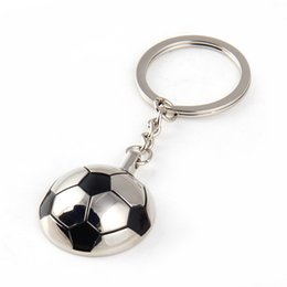 Wholesale Funny Football Soccer - New Arrival Metal Sports Soccer Football Men's Novelty Trinket Keychain Keyrings - Alloy Key Chain Car Key Ring Funny Gifts