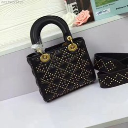Wholesale Hottest Cell Phone Covers - women leather totes fashion handbags high quality with rivets 2017 hot-selling free shipping women shoulderbag brand style