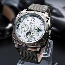 Relojes de cuarzo a prueba de agua de estilo militar de los hombres de la vendimia Relojes de tejido impermeable desde fabricantes