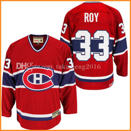Wholesale Montreal Canadiens Hockey Jersey - Montreal Canadiens 33# Patrick Roy Hockey Jersey CCM Men's Embroidery And 100% Stitched Patrick Roy NHL Jerseys