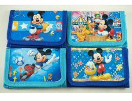 mickey purse Promotion Wholesle 48pcs Mickey Character Cartoon Blue Enfant Kids Boys Divers Stocking Filler Portefeuille Sac à main Sac à main