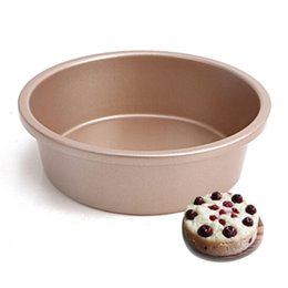 Wholesale Metal Cake Pan - Copper Cake Pan Mould 6 Inch Non-Stick Round Shape Cake Molds Baking Pan Metal Baking Molds Cake Baking Tool Kitchen Accessories