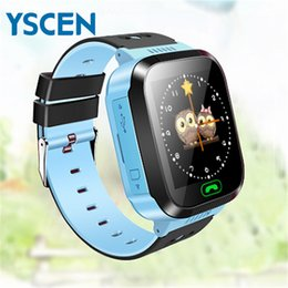 Wholesale Usb Remote Camera - Wholesale- T09 Children Smart Watch WiFi GPS Watch Anti Lost Kids Smartwatch SIM LBS SOS Alarm for Android IOS support Camera USB Interface
