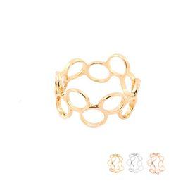 Ring verbinden online-Großhandelsart und weise verband den runden Kreis-Ring-geometrischen Finger Druzy Ringe für Frauen-Damen kann Farbe EFR077 mischen