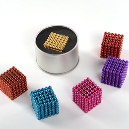 Wholesale 5mm Bucky Ball - Magnetic ball 216pcs 5mm Magic ball buckyballs Neocube neodymium Toy Neo Cubes Puzzle ball Toy Sphere Magnet Magnetic Bucky Balls OTH494