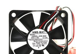 Wholesale Wire Measuring - Original NMB 2406RL-05W-B59 6015 0.13 24V three wire speed measuring cooling fan