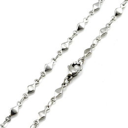 """Wholesale 316l s steel - 3mm Width 316L Stainless Steel Handmade Men's Women`s Square Diamond Shape Bar Linked Chain Necklace (16""""-22"""" inches)"""