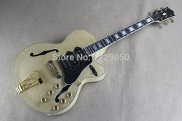 Wholesale Guitar L5 Jazz - Chinese Factory Custom 2015 NEW Semi Hollow F hole Ebony Fingerboard Jazz L5 Electric Guitar 3 Pickups 815