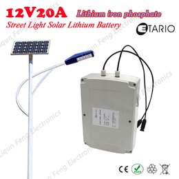 Wholesale Solar Cell Case - 12V 20A Lithium Iron Phosphate lifepo4 Lithium Solar Cell Garden Light Street Lamp Case Super Waterproof Long Life Easy Install