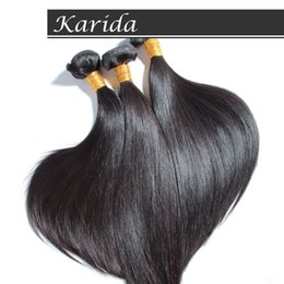 Wholesale Karida Hair Wholesale - Wholesale-Brazilian Virgin Hair Straight 4 Bundles Karida human Hair Weaves Unprocessed virgin Hair Extensions fedex   DHL Free Shipping