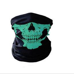 Wholesale Bike Bandana Scarf - Skull Half Face Mask Scarf Bandana Bike Motorcycle Scarves Scarf Neck Face Mask Cycling Cosplay Ski Biker Headband
