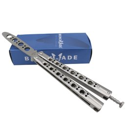 Wholesale Practice Balisong - Promotion BM 40 BM40 Trainer knife Balisong knife 440C 58HRC Blade Steel Butterfly Practice knife Outdoor camping knives
