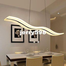 Wholesale White Fluorescent Lights For Chandelier - Led Modern Chandeliers For Kitchen Light Fixtures Home Lighting Acrylic Chandelier In The Dining Room Led Light Fixtures