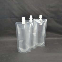 Wholesale Spout Pouch Wholesale - Free Shipping 250-500ml, Stand-up Plastic Drink Packaging Bag Spout Pouch for Beverage Liquid Juice Milk Coffee wa3045