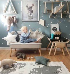 Wholesale Floor Care - 90cm*140CM Mother Care Baby Play Mat World Map Baby Blanket Winter Kids Floor Play Mat Travel Carpet