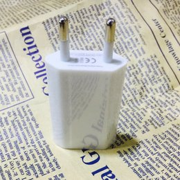 Wholesale E Cig Eu - Mini EU USA Wall Adapter USB Home Travel Charger Power Cube 1A USB Wall Charger For Smartphone 4S 5S Samsung Galaxy Note 3 E Cig eGO Battery