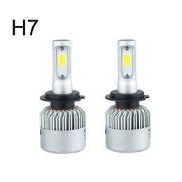 Wholesale H8 Led Xenon White - Auto Car Light H7 Led H4 H1 H3 H8 H11 9005 9006 LED Headlights 6500K xenon white 72W 8000LM COB Chip Automobiles Parts Lamp Bulb