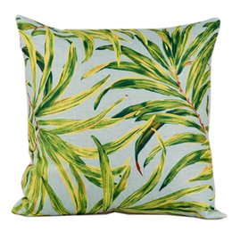Wholesale Pillow Covers Country - American Vintage Country Cotton Linen Pillowcase Plants Leaf Cushion Decorative Pillows Home Decor Sofa Throw Pillow Cover 18 X 18 Inches