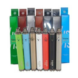 Wholesale Ecig Variable - Hot Vision Spinner 2 battery ecig huge vapor vape pen variable voltage batteries VS evod twist fit CE4 MT3 Atomizer Vaporizer DHL FREE
