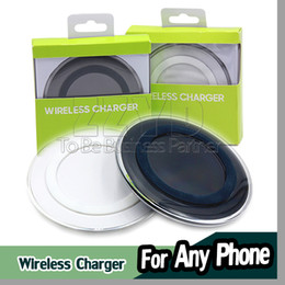 Wholesale Wholesale Charging Pads - Universal Qi Wireless Charger Newest Charging Adapter Receiver Pad For Samsung Note Galaxy S6 s7 Edge mobile pad with package