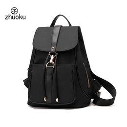 Wholesale Pocket Listings - 2017 New Listing vintage black backpack waterproof Oxford Material Drawstring Backpack female high quality double Shoulder Bag